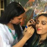 Tanvi KG during Eye Makeup Class at Chandigarh